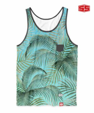 Smartieshirt Coconut Leaves Tank Top