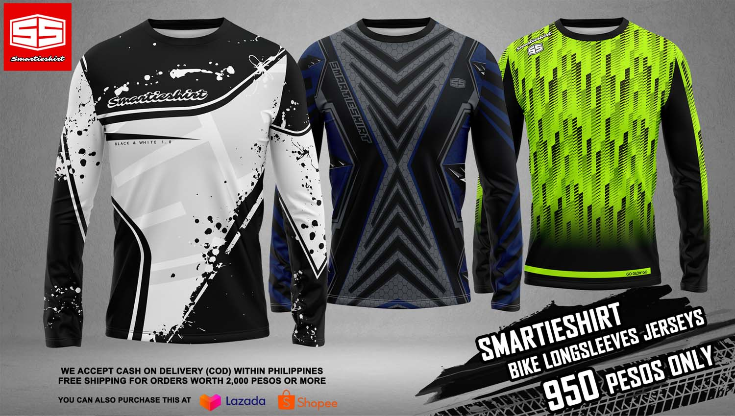 Smartieshirt Long Sleeves for motorcycles and bike jerseys