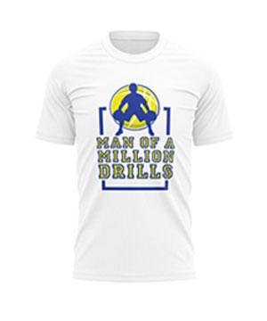 Man Of A Million Drills Jersey T-Shirt (White)