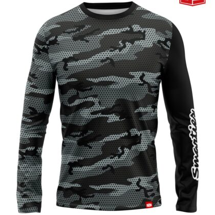 Personalized Smarties Gray Camo Long Sleeves Jersey